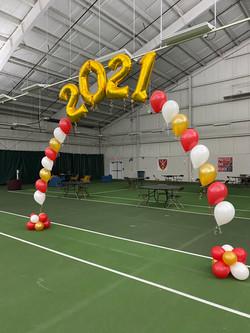 2021 Balloon Arch   New Hampshire School Graduation Balloons   Eye Candy Balloons