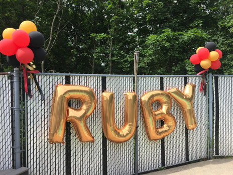 Gold Balloon Letters for Birthday Party at Eye Candy Balloons