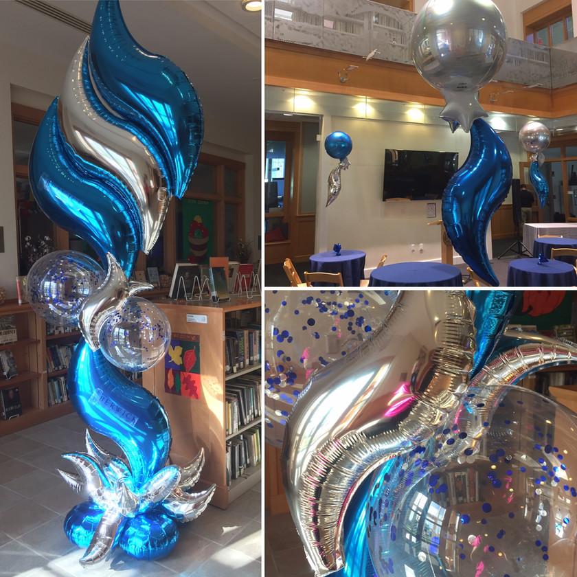Latex-Free Balloon Centerpieces and Balloon Column for Berwick Academy - Eye Candy Balloons