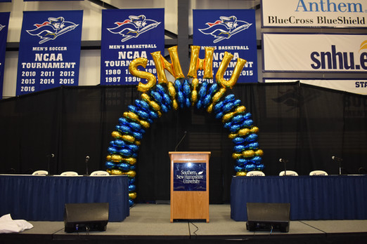 Latex-free Balloon Arch at SNHU Manchester by Eye Candy Balloons