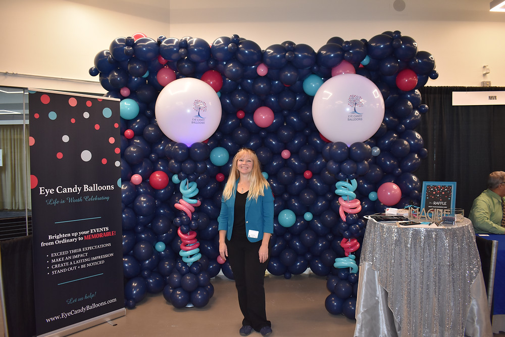 Eye Candy Balloons Balloon Wall Balloon Columns Corporate Branding