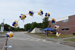 Drive-through Graduation Balloon Arch   Lakes Region Community College   Eye Candy Balloons