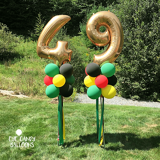 Birthday Balloon Party Pole Columns by E