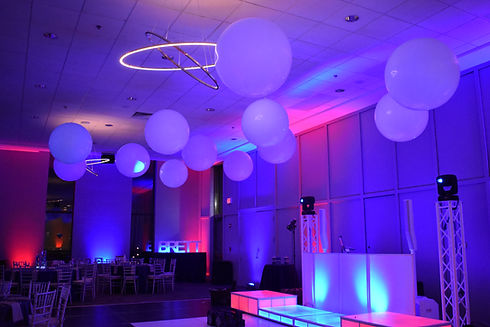 Giant White Ceiling Balloons for Weddings, Mitzvahs, Parties by Eye Candy Balloons in NH