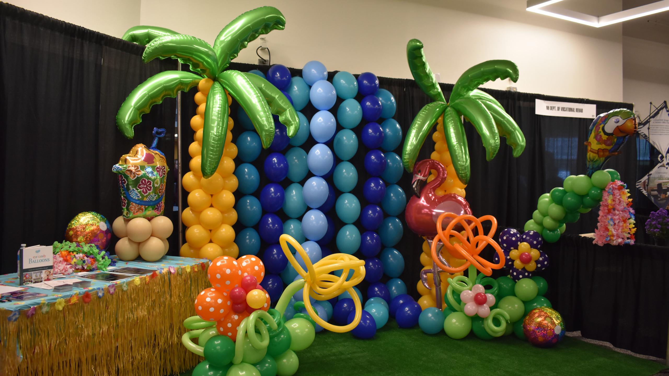 Tropical Beach Party Theme Balloons