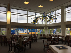 Ceiling Firework Balloon Decorations at Southern New Hampshire University by Eye Candy Balloons