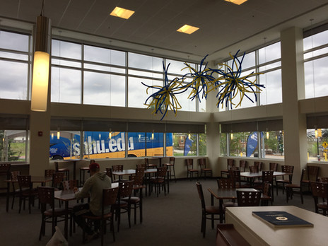 Balloon Fireworks and Ceiling Decor at SNHU Manchester by Eye Candy Balloons