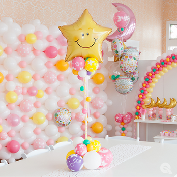 Pink Baby Shower Balloon Decorations at Eye Candy Balloons