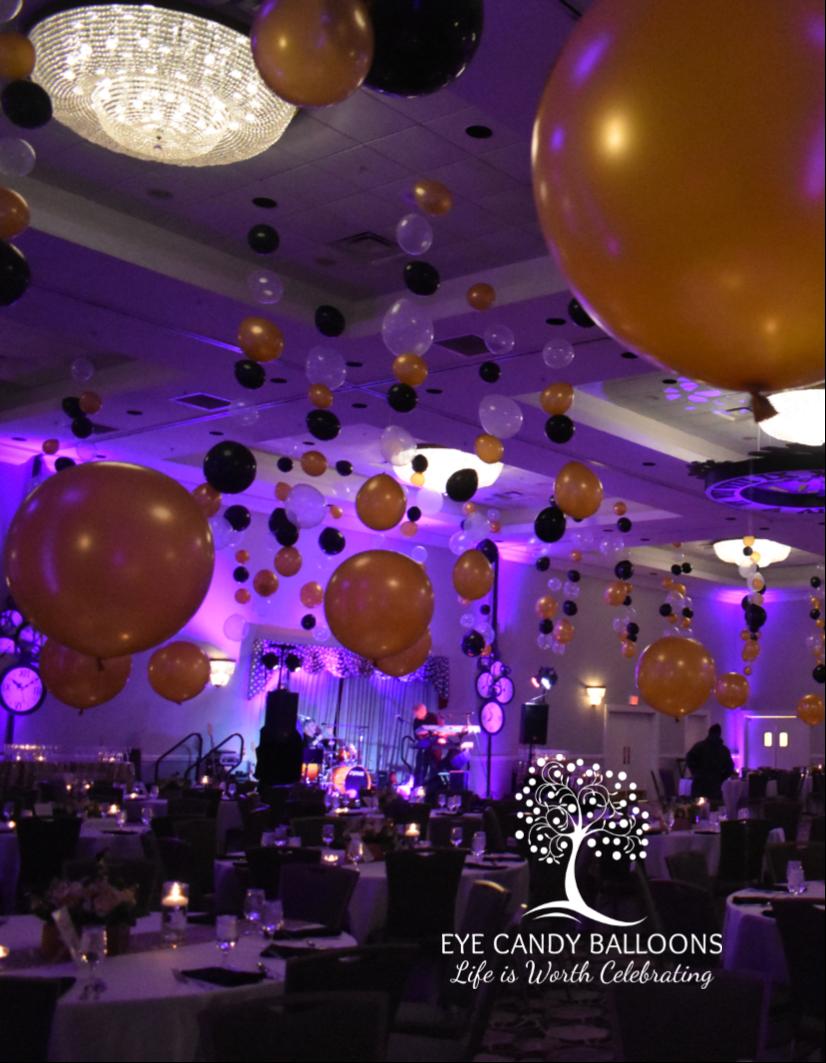 New Year's Eve Balloon Decor