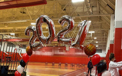 2021 Graduation Balloon Arch at Pinkerton Academy, Derry, NH by Eye Candy Balloons