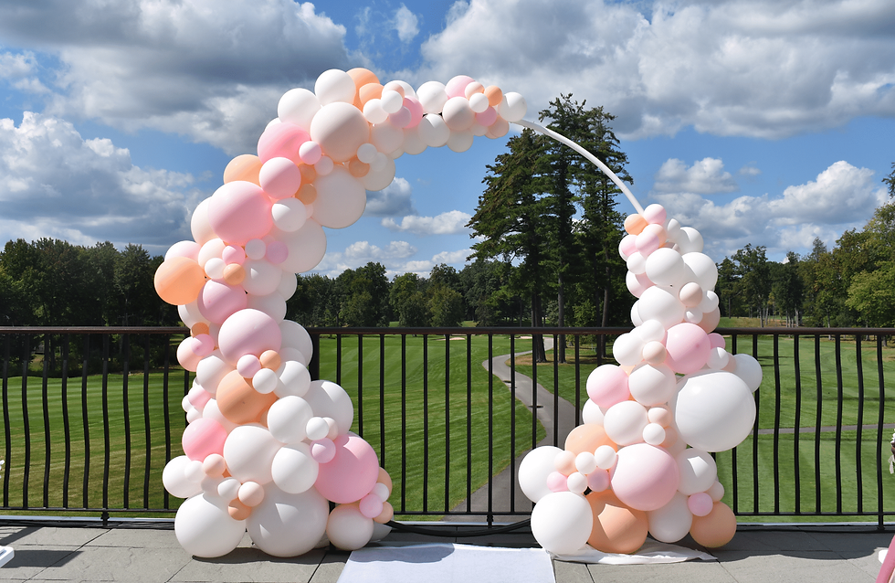 Wedding Balloon Arch in Pink at Manchest