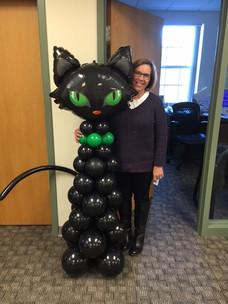 Halloween Cat Balloon Sculpture