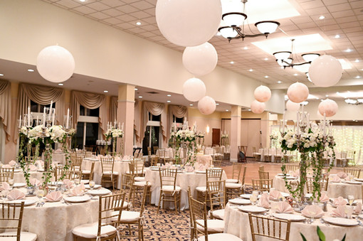 Wedding Balloons Ceiling Decor at Atkinson Country Club by Eye Candy Balloons