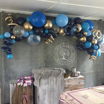 Organic Balloon Garland Backdrop at Eye Candy Balloons