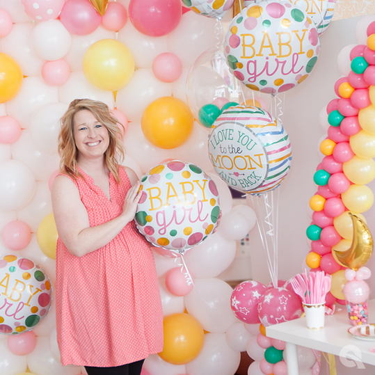 Pink Baby Shower Balloons at Eye Candy Balloons