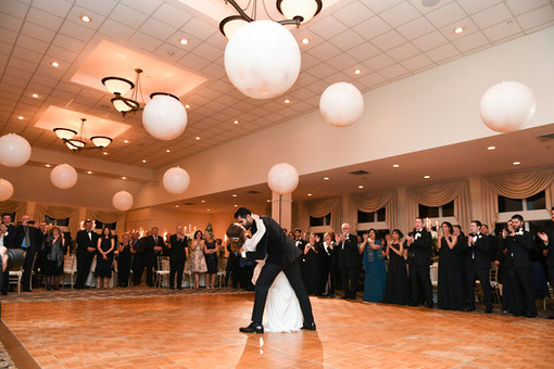 Wedding Ceiling Balloon Decor at Atkinson Country Club by Eye Candy Balloons