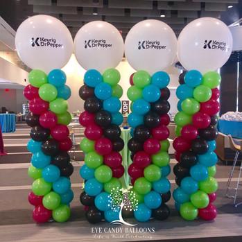 Corporate Event Balloon Columns | Eye Candy Balloons