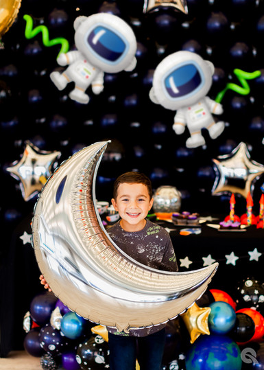 OuterSpace Birthday Party Balloons and Astronaut Balloons at Eye Candy Balloons