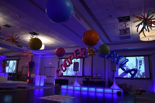 Mitzvah Balloon Arch Dance Floor Balloons by Eye Candy Balloons