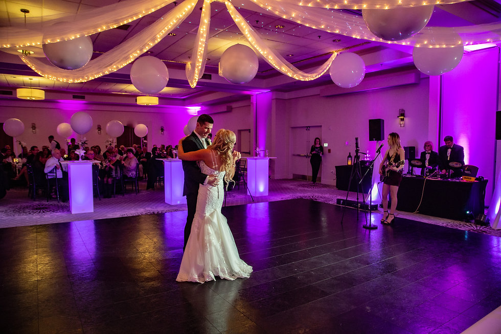 Giant White Wedding Ceiling Balloons and White Balloon Centerpieces at Event Center Nashua by Eye Candy Balloons