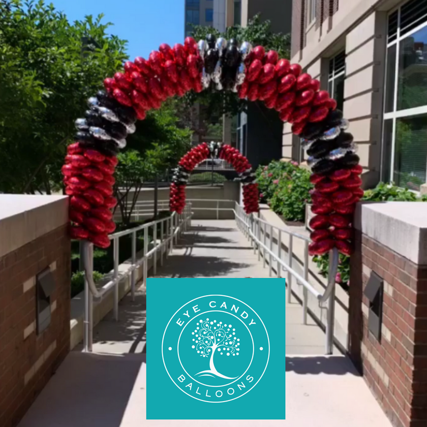 Latex-free Balloon Arch for MCPHS - Eye Candy Balloons