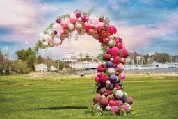 Wedding Organic Demi-Arch Balloons by Eye Candy Balloons