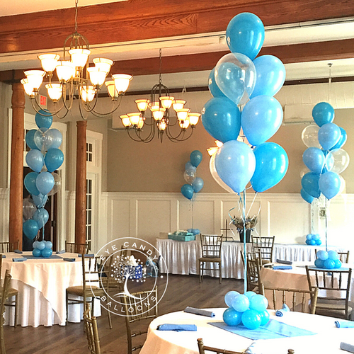 Blue Baby Shower Balloon Bouquets at Eye Candy Balloons