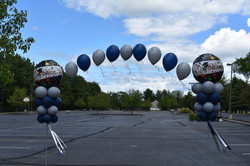 Outdoor Graduation Balloon Arch   Trinity High School   Eye Candy Balloons