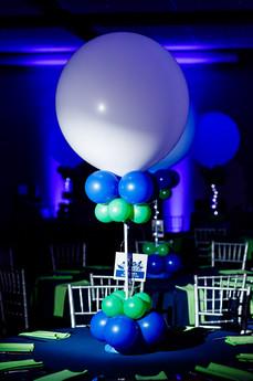 Mitzvah Balloon Centerpiece, Grand Balloon Centerpiece by Eye Candy Balloons