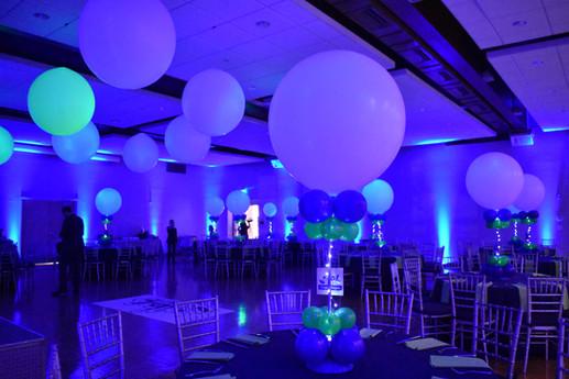 Mitzvah Balloon Centerpieces Dance Floor Balloons by Eye Candy Balloons