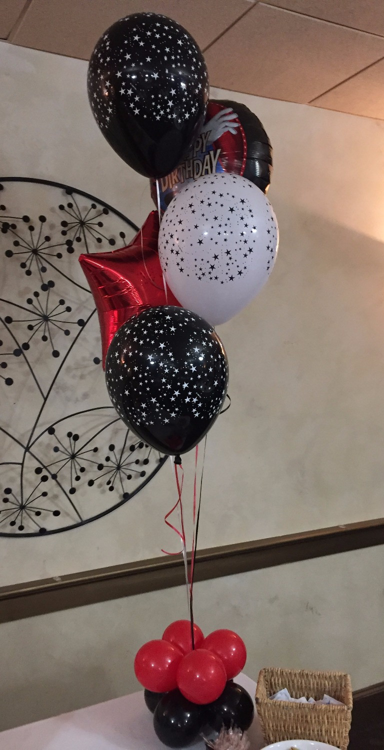 balloon decorations, table centerpieces, party decorations