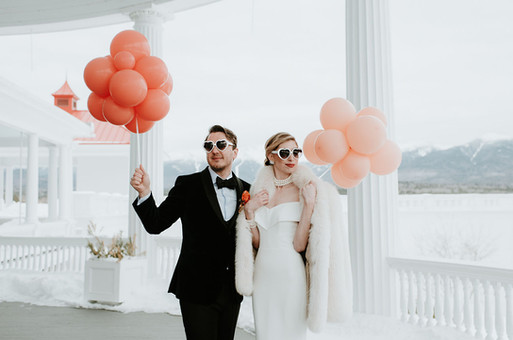 Poofball Wedding Balloons at Omni Mt. Washington Resort by Eye Candy Balloons