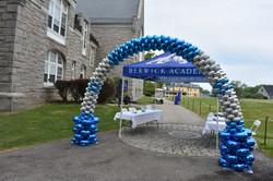 Latex-Free Graduation Balloon Arch   Berwick Academy by Eye Candy Balloons