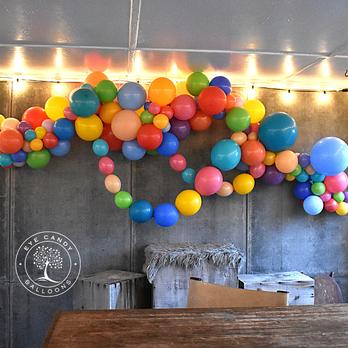 Organic Balloon Garland Wall Backdrop at Eye Candy Balloons