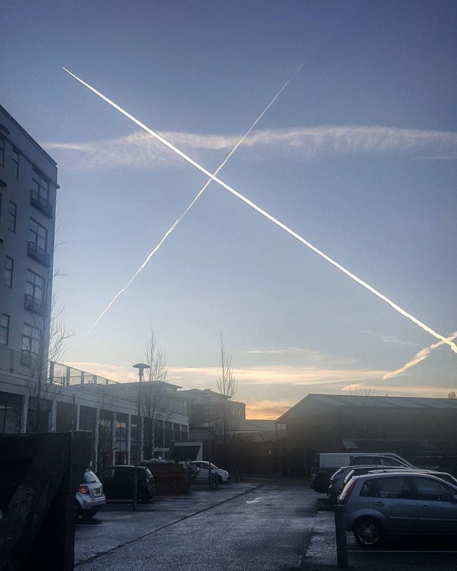 #X on the #evening #sky _#london #uk #landscape #photography #blue #sunset