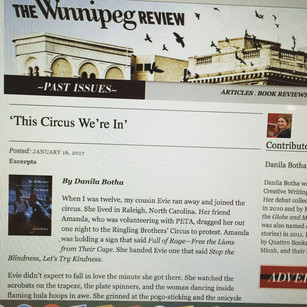 For All the Men Excerpt and Review in the Winnipeg Review