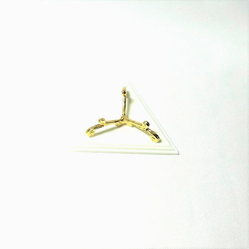 Gold tone Stand on Faux Corrian