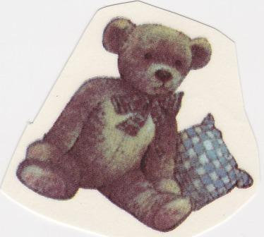 Bear and Pillow Decal