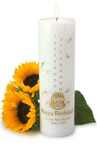 TCGC324 Countdown Birthday Candle