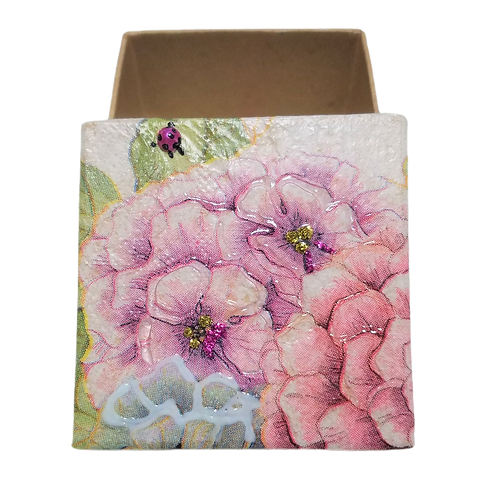Floral Decoupage Box