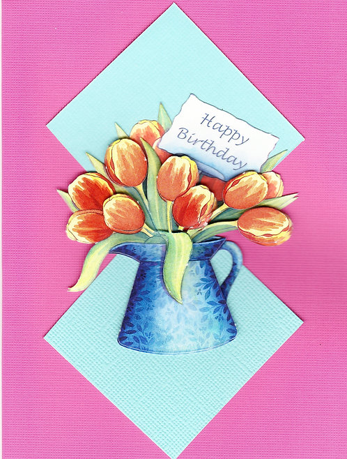 Happy Birthday Tulips Card