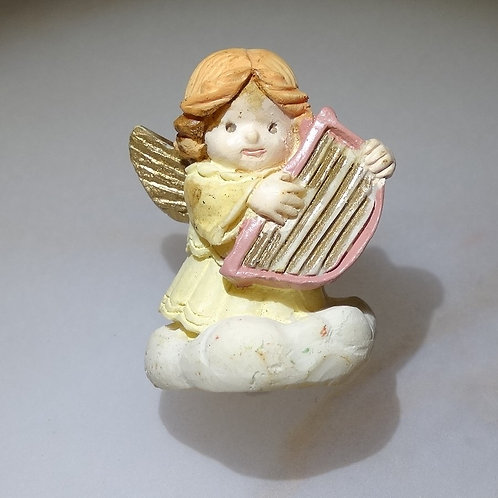 Angel on Cloud with Harp Mini