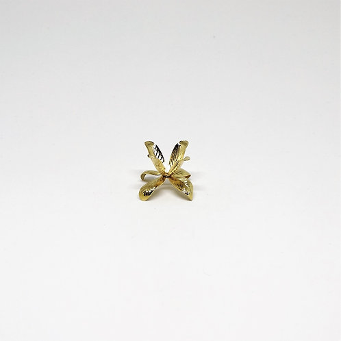 Goldtone Tulip Leaves Stand