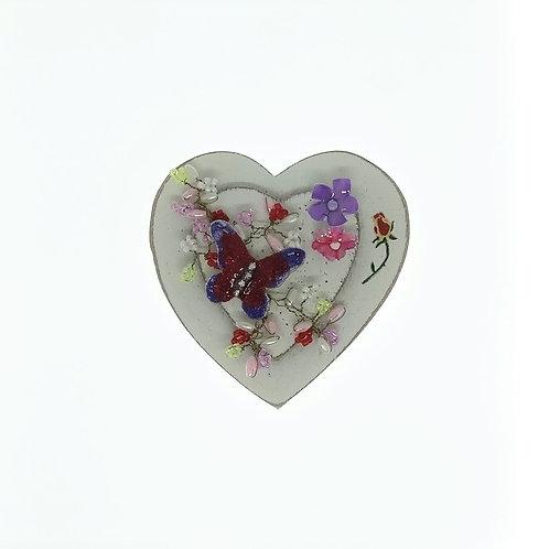 Red Hatters Heart Butterfly