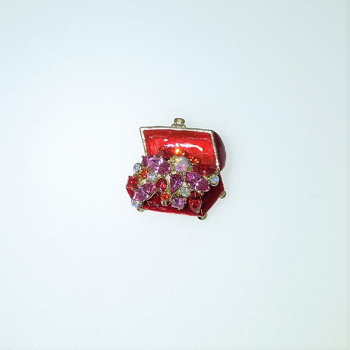 Treasure Chest Pin/Brooch Color choices available