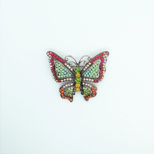 542516D  Multi-Color Butterfly Pin