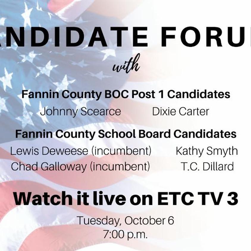 Fannin County Candidate Forum