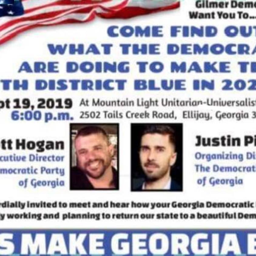 Turning Georgia Blue!