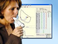 Lungfunktionstest med Spirare spirometri