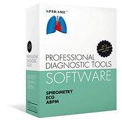 Spirare mjukvara box spirometri, EKG och 24-timmars blodtryck